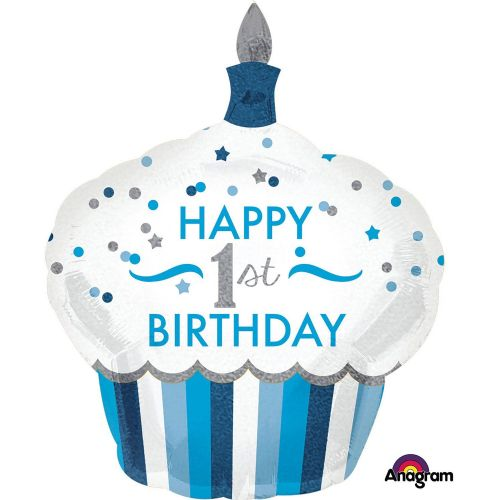 1st Birthday Cupcake Boy SuperShape